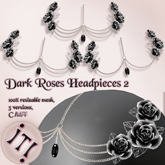 !IT! - Dark Roses Headpieces 2 Image (IT! (Indulge Temptation!)) Tags: atb addictedtoblack secondlife sl exclusive event it itindulgetemptation indulgetemptation