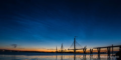 NLCFRBNew800 (AdrianMaricic) Tags: forth edinburgh nlc noctilucent clouds forthbridges electric blue 80km high stratospheric