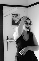 Reflections (Bart D. Frescura) Tags: masked maskedportrait blackandwhite bartdfrescura creepy creepycalifornia mask lightanddark lightandshadow indoor 2016 portrait strange odd