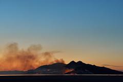 The Whole Island Is Burned (JasonCameron) Tags: antelope island fire salt lake city great utah wildfire wild spark lightning dusk sunset sundown light flames smoke orange clouds