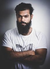 Portrait : Umang Singh ( Instagram @veganbeardedguy ) (Aman Arra) Tags: beard vegan portrait nikon 50mm indoor flash face umang singh vegabbeardedguy