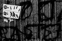 (Georgina ) Tags: monochrome blackandwhite graffiti mesage nobombs running fleeing politcal athens greece protest