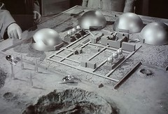 A 1957 Model of a Future British Moon Base. (ManOfYorkshire) Tags: quatermass2 model moon base moonbase 1957 version future rockets rocketships building colony domes british design vision