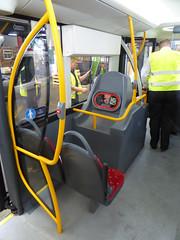GAL OM1 - YJ16DBO - INTERIOR 8  - BX BEXLEYHEATH BUS GARAGE - WED 20TH JULY 2016 (Bexleybus) Tags: go ahead goahead london optare metrodecker demonstrator prototype om1 yj16obd bx bexleyheath bus garage kent tfl route 486