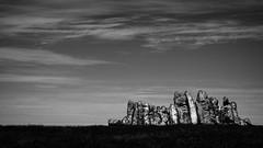 queuing giants, petrified (pix-4-2-day) Tags: le douessant finistre bretagne france frankreich brittany stones steine standing himmel sky clouds wolken felsen rocks