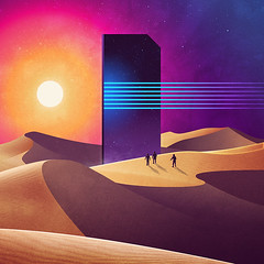 Sunset on Distant Planet (JamesGoblin) Tags: sunset distant planet mystery portal dimension dimensions dunes desert