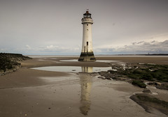 New Brighton Lighthouse (David Chennell - DavidC.Photography) Tags: wirral moody overcast merseyside beach reflection newbrighton coast lighthouse newbrightonlighthouse
