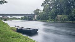 Fochabers Spey Bridge (EU-Media) Tags: spey river scotland moray slow shutter boat