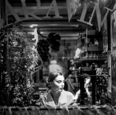 BAR A VIN (zventure,) Tags: portrait paris nb monochrome modle mannequin bw noiretblanc ville blackandwhite dcor vitrine hasselblad 500cm carr