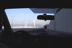 The cooling towers of the Megalopolis coal powerplant seen from the Tripoli - Kalamata Highway. (sarantosmeglis) Tags: pido