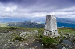 5 Cracked Trig (daedmike) Tags: benledi hillwalking hills mountain scotland trigpoint concrete view landscape clouds