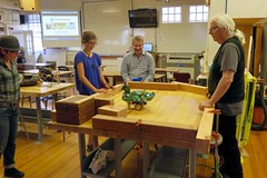 Tam Makers August Meetup (fabola) Tags: box class community discussion education fabrice geo howard learning maker marin meeting meetup millvalley music natalina presentation robot tamhigh tamhighschool tammakers tuhsd woodshop woodworking