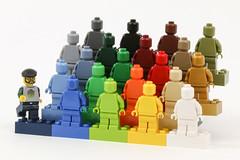 Gzu monochrome minifig (Gzu's Bricks) Tags: gzu gzubricks bricks monochrome mono color minifig mini fig figurine lego