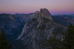 Half Dome from Glacier Point - Yosemite (beth ashley alexander) Tags: halfdome yosemite nationalpark climber climbing rockface sunset moon moonrise beautiful enchanting canon canon6d 24105mml