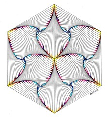 20160807a (regolo54) Tags: regolo54 geometry symmetry pattern isometric hexagon triangle mathart watercolor aquarelle escher