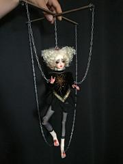 Calla (Sadomina) Tags: doll bjd abjd balljointed balljointeddoll puppet calla sadomina creepy cabaret circus morbide chains blood gore halloween marionette surreal macabre