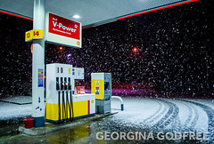 Boxing Day (GeorginaGodfree) Tags: christmas travel white snow cold cars station weather photography day may stop petrol boxing stranded fuel georgina godfree