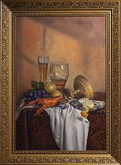 Klassisches Stillleben Still Life With Gilded Cup Roemer And Seafood (tania_rivilis) Tags: old stilllife art dutch painting stillleben kunst bild oilpainting malerei realismus klassische akademismus taniarivilis trartwork
