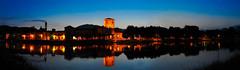 Brivio by  night (Riboli Alessandro) Tags: panorama rio nikon blu fiume ora notte paesaggio 2470 sponda brivio d700 nikkorriva