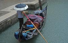 Rain (simoncoram) Tags: venice rain fun canal gondola