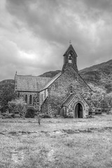 St. Mary's Church (Charliebubbles) Tags: blackandwhite canon eos mono stmaryschurch hdr priory beddgelert augustinian gelert photomatix edwardi celert augustinianpriory 60d llywelynthegreat 140515 canoneos60d photomatixpro4