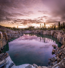 Luminous midnight in Finland (welho-) Tags: sky cliff reflection water night clouds suomi finland landscape pond rocks long exposure sony midnight luminous f4 1635 bej a7r