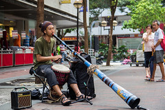 Busker (Aden Chua You Liang) Tags: gold instrument busker busking earning vuvuzela