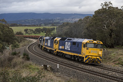 """2016-07-11 Pacific National 8142-8180-8218 Brewongle 8934 (Dean """"O305"""" Jones) Tags: west port train iron pacific box au main australia line container national nsw newsouthwales locomotive ore 8142 kembla 8934 blayney 8180 8218 brewongle"""