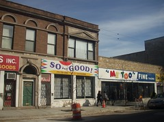 """So...Good! & """"Me Too"""" storefronts, Uptown, Chicago (katherine of chicago) Tags: signs chicago uptown storefronts"""