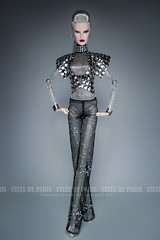 LAB QUEEN Office Look For Anika Luxottica (Culte De Paris) Tags: lab queen office look for anika luxottica ifdc 2016 dasha cyborg doll wardrobe miniature high end sci fi space laboratory robot it integrity toys culte de paris julia leroy jason wu haute couture handcrafted blonde crop jacket stardust pants fashionista