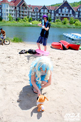 IMG_1674 (MDA Cosplay Photography) Tags: pink blue mountain ontario anime cute beach water pond village collingwood photoshoot princess cosplay tengen manga resort bikini nia swimsuit 2016 toppa gurrenlagann gurren lagann bikinicosplay teppelin gurrenlaganncosplay niacosplay yeticon
