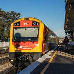 On the Maitland run (OzzRod) Tags: train square pentax platform railway waratah k3 hdpentaxdfa2470mmf28