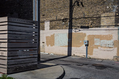 Alley off of Historic Mitchell St. (Alec C Miller) Tags: street shadow wall city urban cityscape landscape color abstract brick milwaukee alley fine art photography digital