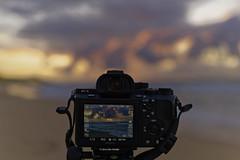 Sunset photography  (Alpha 2008) Tags: camera sunset sky beach clouds landscape island hawaii coast us dof oahu bokeh sony   alpha