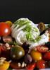 HEIRLOOM TOMATO CAPRESE SALAD (whimsandwhisks) Tags: food tomato salad tomatoes foodies foodporn basil mozzarella pinenuts caprese heirloomtomatoes kalamataolives heirloomtomato whimsandwhisks basilpestodressing