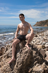 Sacred Cove (#32) (dksmediasolutions) Tags: ocean ca wild portrait usa male beach nature photography losangeles model photographer natural masculine creation hollywood dreams dreamscape onset selfdiscovery ranchopalosverdes artisticportrait abalonecoveshorelinepark davidksmith shawndean