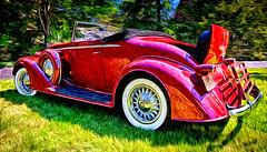 1933 Oldsmobile at Applewood (hz536n/George Thomas) Tags: rumble seat 2016 cs5 canon canon5d ef1740mmf4lusm flint hdr michigan oldsmobile sloanmuseum sloanmuseumautofair smã¶rgã¥sbord summer carshow copyright nik pixelbender olds rumbleseat old smörgåsbord