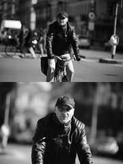 [La Mia Citt][Pedala] (Urca) Tags: milano italia 2016 bicicletta pedalare ciclista ritrattostradale portrait dittico bike bicycle biancoenero blackandwhite bn bw 872163