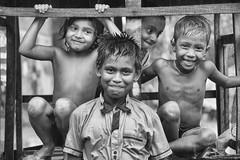 happy (Robi@photo) Tags: happy happiness bangladesh dhaka children child water rain cute bw blackwhite blackandwhite monochrome people groupshot photo border bnw naturallight nikon outdoor