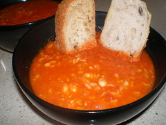 Tomato-Rice Soup with Roasted Garlic and Navy Beans (dimsimkitty) Tags: veganomicon