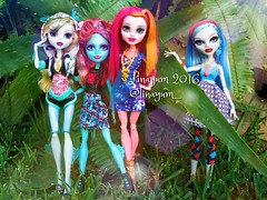 (Linayum) Tags: lagoonablue lagoona lorna lornamcnessie gigigrant ghoulia ghouliayelps mh monster monsterhigh mattel doll dolls mueca muecas toy toys juguete juguetes linayum