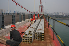45023-002 PRC: Hubei-Yichang Sustainable Urban Transport Project (Asian Development Bank) Tags: china prc peoplesrepublicofchina bridge constrruction infrastructure river transporation transport yangtze yichang hubei chn