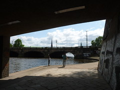 Under the Bridge (Sarah A Stewart) Tags: bridge kennedybrueke metaphotography photographers hamburg germany deutschland