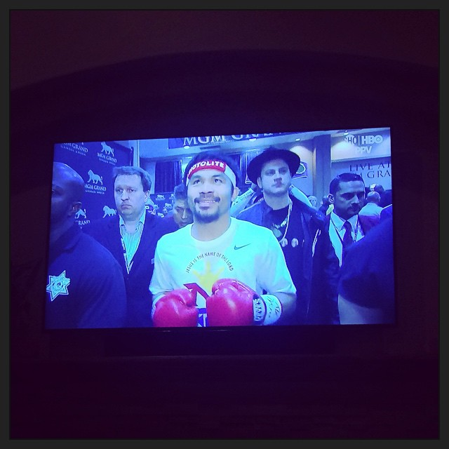 Jimmy Kimmel is supporting #Pacman in style! #MayPac #PacquiaoMayweather