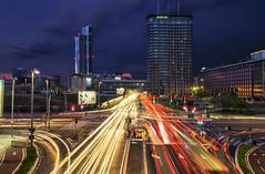 Light Trail in Milan (Fil.ippo) Tags: melchiorregioia lighttrail night milan milano longexposure d7000 cityscape expo2015 filippo filippobianchi nightscape notturno