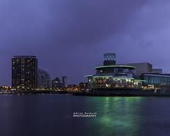 Glow (Buck_68) Tags: colour clouds reflections dusk salfordquays nightshoot salford lastlight mediacity