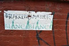 Black Lives Matter (MTSOfan) Tags: wall brooklyn sticker politics protest williamsburg humanrights blacklivesmatter