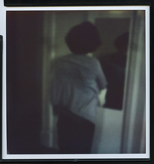 # (gde to tam) Tags: portrait england woman blur color slr film female analog project polaroid sx70 mirror indoor impressionism instant folding impossible