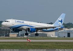 Interjet Airbus A320-214 (XA-UHE) (Michael Davis Photography) Tags: plane airplane photography nashville aviation flight jet airbus cancun arrival runway a320 bna airbusa320 kbna interjet xauhe