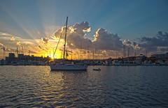 Inner Harbor Sunset (esmithiii2003) Tags: sunset sky sun water sailboat harbor boat dusk maryland baltimore inner baltimoreinnerharbor clours esmithiii esmithiii2003